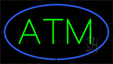 Atm Blue Border Neon Sign