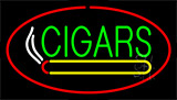 Green Cigars Logo Red Neon Sign