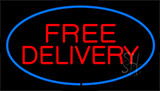 Free Delivery Blue Neon Sign