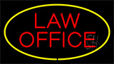 Law Office Yellow Neon Sign
