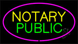 Notary Public Pink Border Neon Sign
