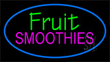 Fruit Smoothies Blue Neon Sign