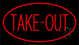 Red Take Out Neon Sign