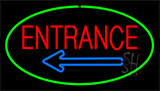 Entrance Green Neon Sign