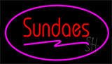 Sundaes Pink Neon Sign