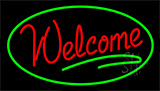 Welcome Green Neon Sign
