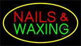 Nails And Waxing Yellow Neon Sign