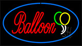 Balloon Blue Neon Sign