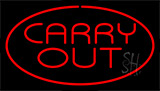 Carry Out Red Neon Sign
