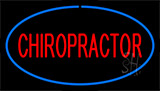 Red Chiropractor Blue Neon Sign