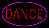 Red Dance Pink Border Neon Sign