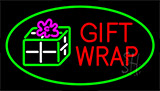 Gift Wrap Green Neon Sign