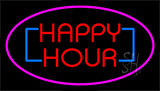 Happy Hour Pink Neon Sign