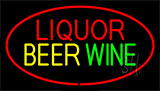 Liquor Beer Wine Red Neon Sign