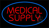 Red Medical Supply Blue Neon Sign