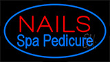 Nails Spa Pedicure Blue Neon Sign