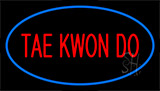 Tae Kwon Do Blue Neon Sign