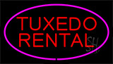Tuxedo Rental Purple Neon Sign