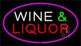 Wine And Liquor Purple Neon Sign
