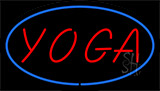 Red Yoga Blue Border Neon Sign