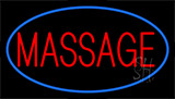 Red Massage Blue Border Neon Sign