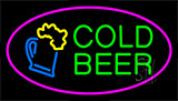 Pink Cold Beer Neon Sign