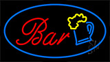 Border Bar W Beer Mug Neon Sign