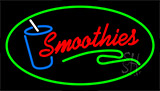 Red Smoothies With Green Border Neon Sign