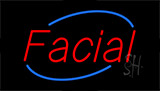 Red Facial Neon Sign