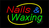 Nails And Waxing Neon Sign