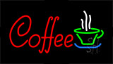Red Coffee Green Glass Neon Sign