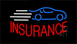 Insurance With Car Logo Neon Sign