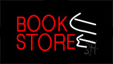 Book Store With Arrows Neon Sign