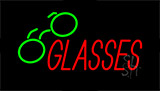 Glasses With Logo Neon Sign