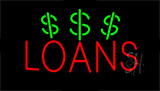 Red Loans Dollar Logo Neon Sign