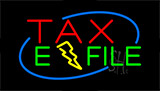 Red Tax E File Neon Sign