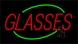 Red Glasses Neon Sign