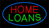 Home Loans Blue Border Neon Sign