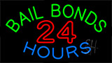 Bail Bonds 24 Hours Neon Sign