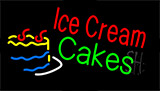 Red Ice Cream Cakes Neon Sign