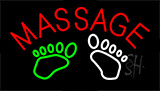 Foot Massage With Logo Neon Sign