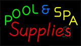Pool And Spa Supplies Neon Sign