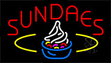 Sundaes With Logo Neon Sign
