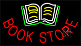 Book Store With Book Logo Neon Sign