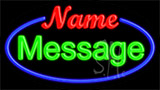 Custom With Blue Border Neon Sign