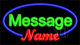 Custom Name Blue Border Neon Sign