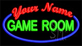 Custom Green Game Room Blue Border Neon Sign