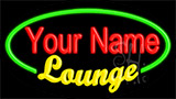 Custom Yellow Lounge Green Border Neon Sign
