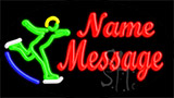 Custom Skier Logo Neon Sign