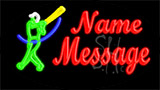 Custom Baseballer Logo 1 Neon Sign